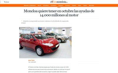 Moncloa quiere tener en octubre las ayudas de 14.000 millones al motor