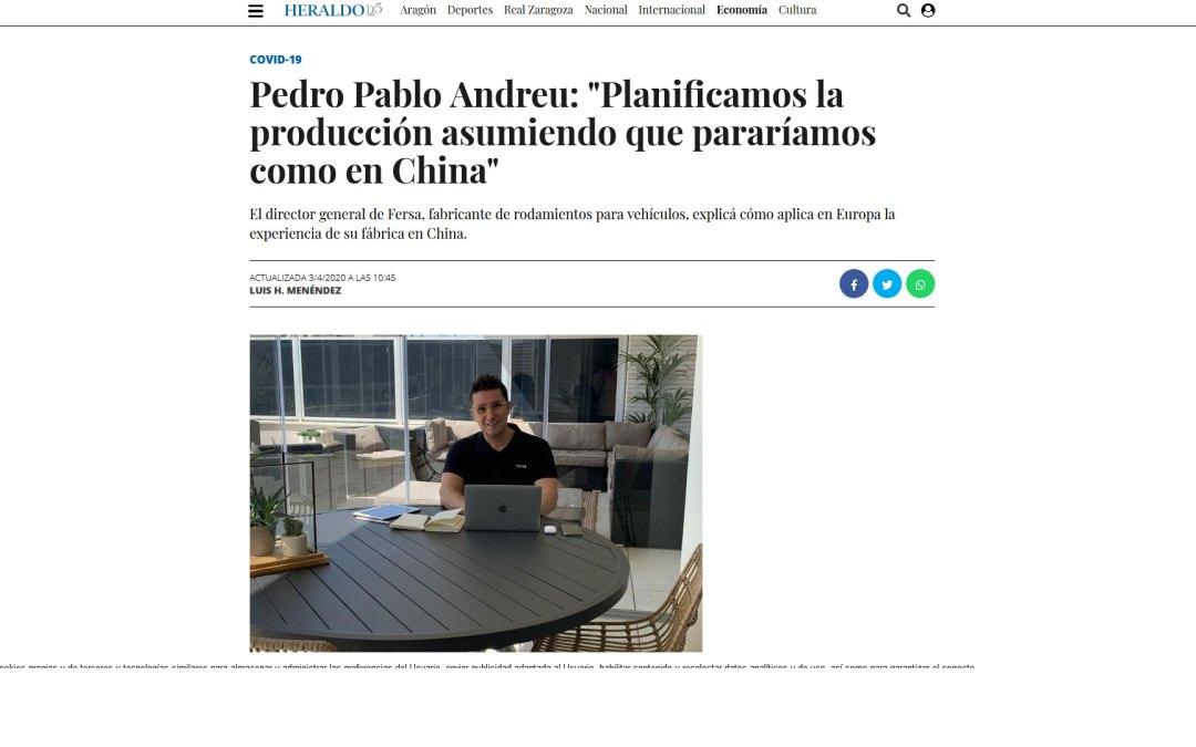 """Pedro Pablo Andreu: """"Planificamos la producción asumiendo que pararíamos como en China"""""""