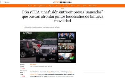 """PSA y FCA: una fusión entre empresas """"saneadas"""" que buscan afrontar juntas los desafíos de la nueva movilidad"""