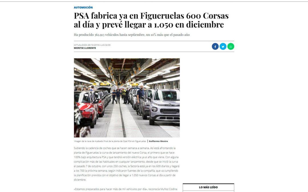 PSA fabrica ya en Figueruelas 600 Corsas al día y prevé llegar a 1.050 en diciembre