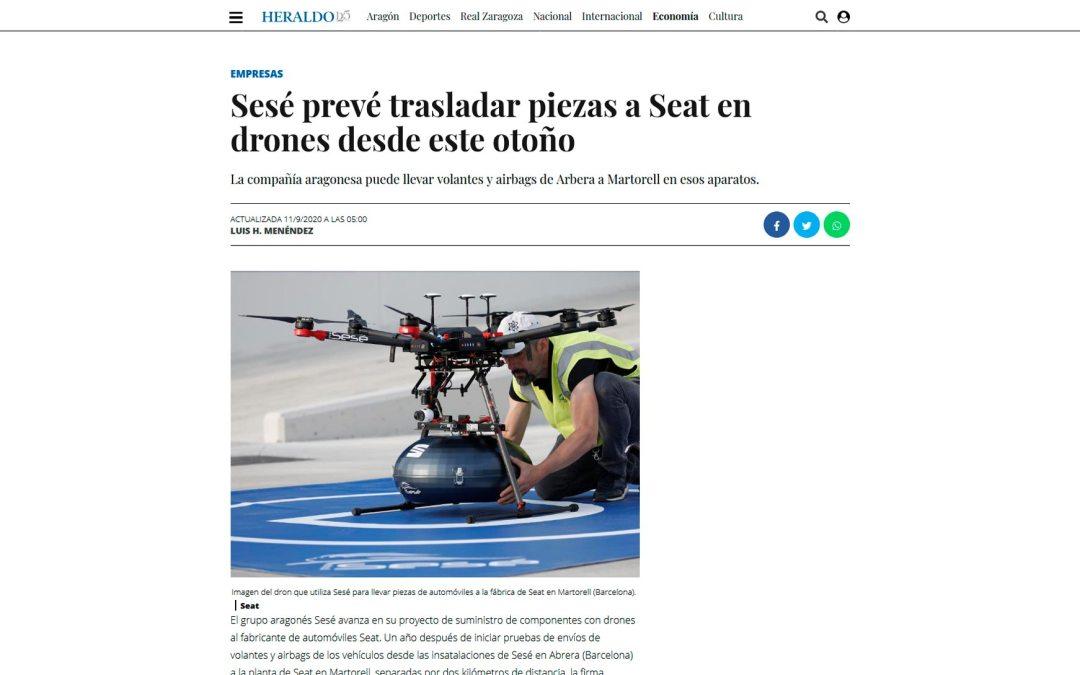 Sesé prevé trasladar piezas a Seat en drones desde este otoño