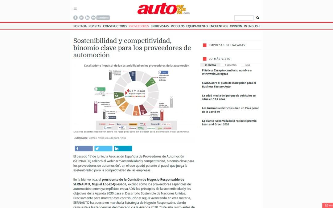 Sostenibilidad y competitividad, binomio clave para los proveedores de automoción