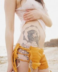 Sexy-Jesus-Tattoo-For-Girl