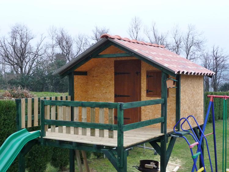 Cabane en bois pour les enfants  Cabanes abri jardin