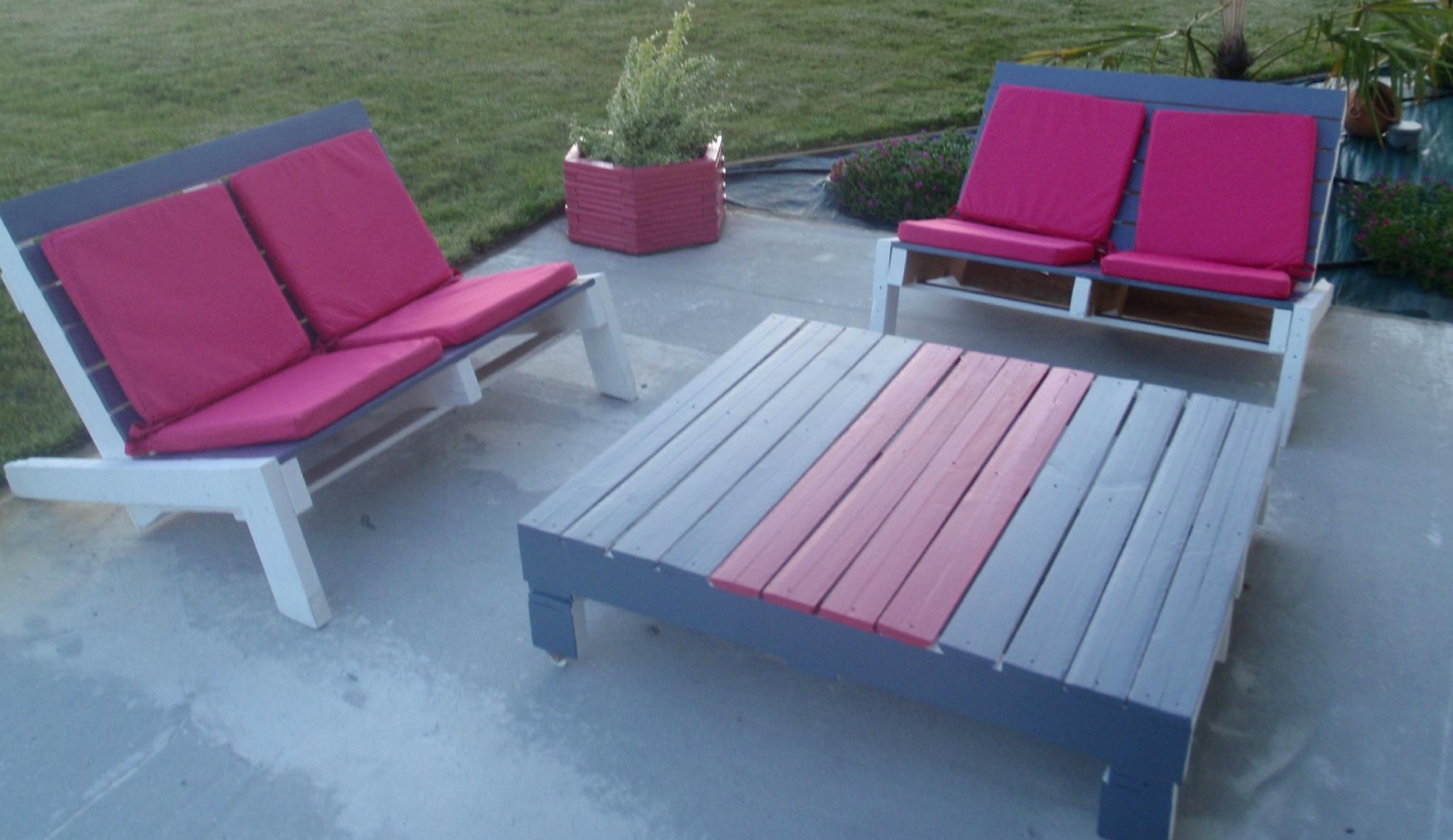 Faire Un Banc Avec Palette comment faire un salon de jardin avec des palettes