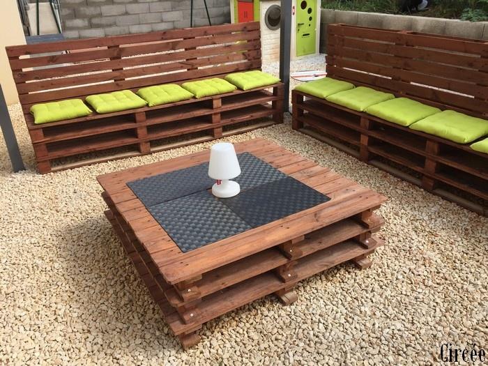 Comment Fabriquer Un Salon De Jardin Avec Des Palettes En ...