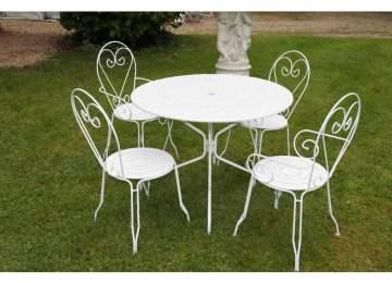 Salon De Jardin Table Ronde Fer | Salon Jardin Table Ronde Salon En ...
