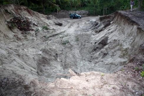 extraccion de dunas en la lometa en 2010