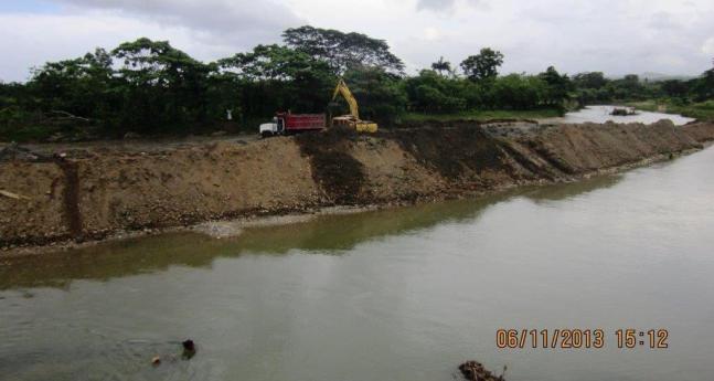 Segunda limpieza del rio Veragua en 2013 con la complicidad del sindico de Veragua