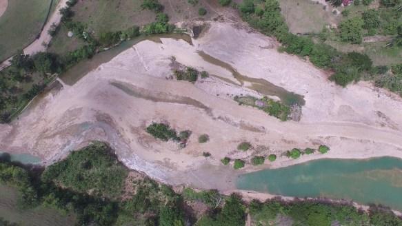 """Situacion del rio Veragua despues de un permiso de medio ambiente para una """"limpieza"""""""