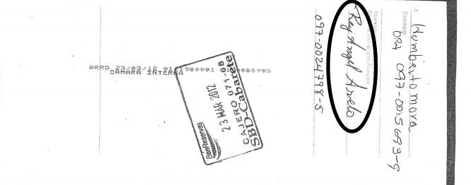 Cheque de pago de interes con la firma alterada de Humberto Mora y cambiado por el aspirante a regidor Rey Angel Arvelo