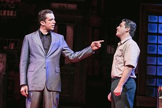 Nick Cordero (Sonny) and Richard H. Blake (Lorenzo). Photo by Jerry Dalia
