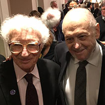 Sheldon Harnick (L) & Charles Strouse Photo: Bill Sensenbrenner