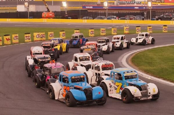Semi-Pro drivers race side-by-side on a restart during Round 6 of the Bojangles\' Summer Shootout at Charlotte Motor Speedway. CMS/John Davison photo - See more at: http://www.charlottemotorspeedway.com/handler.cfm/template,photo_gallery/cat_id,51400?sf_id=25402#sthash.hN9Xx8nX.dpuf