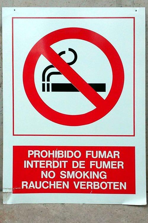 Retol prohibit fumar 59x85cm