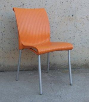 Cadira apilable amb respatller alt per a terrassa d'ocasió a cabauoportunitats.com Balaguer - Lleida - Catalunya