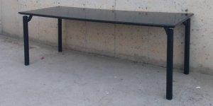Taula negra per a oficina 198cm d'ocasió a cabauoportunitats.com Balaguer - Lleida - Catalunya