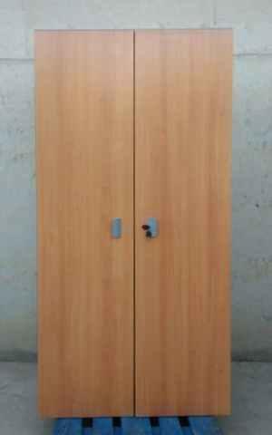 Armario oficina color madera 198cm de ocasión en cabauoportunitats.com