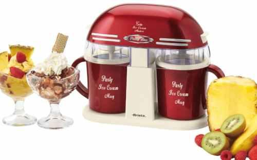 Màquina de gelats doble per a ús domèstic ARIETE TWIN ICE CREAM MAKER nova en venda a cabauoportunitats.com Balaguer - Lleida - Catalunya