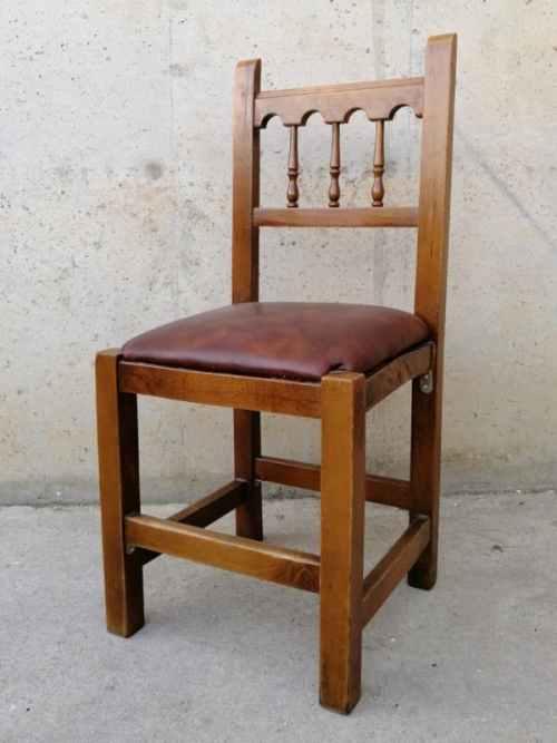 Cadira fusta estil rústic de segona mà a cabauoportunitats.com Balaguer - Lleida - Catalunya