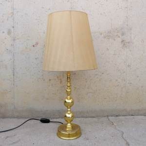 Làmpada daurada ø38x85cm de segona mà a cabauoportunitats.com Balaguer - Lleida - Catalunya