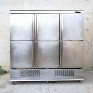 Cámara frigorífica inox de 6 puertas de segunda mano en cabauoportunitats.com Balaguer - Lleida - Catalunya