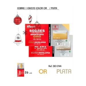 Lot de sobres de color or i color plata de 110x220mm en venda a cabauoportunitats.com Balaguer - Lleida - Catalunya