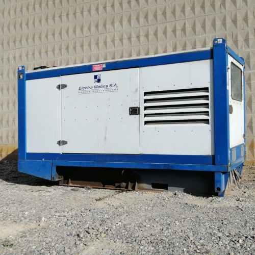 Generador elèctric insonoritzat ELECTRA MOLINS 170 kVA de segona mà en venda a cabauoportunitats.com Balaguer - Lleida - Catalunya