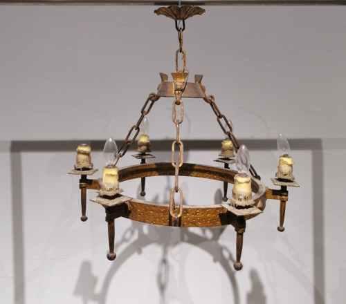 Lámpara rústica 4 bombillas