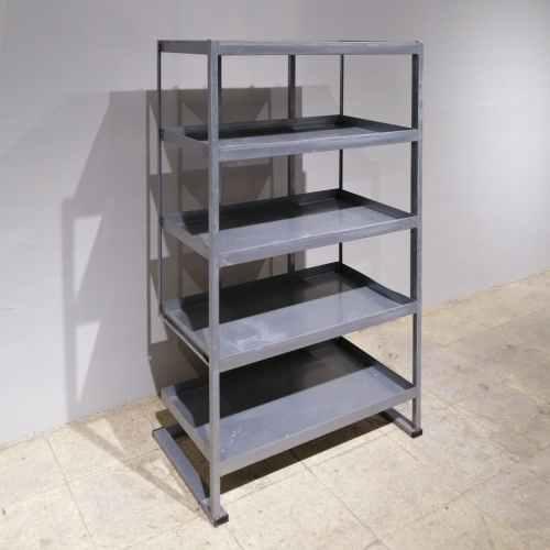 Estantería metálica de 5 estantes de 70x40cm en venta en cabauoportunitats.com