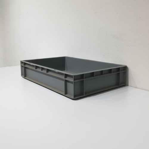 Caixa apilable de color gris de polipropilé nova 60x40cm en venda a cabauoportunitats.com Balaguer - Lleida - Catalunya