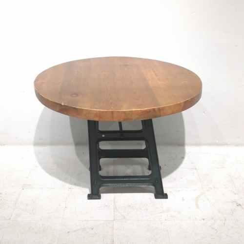 Taula rodona de fusta massissa de ø99cm de segona mà en venda a cabauoportunitats.com Balaguer - Lleida - Catalunya