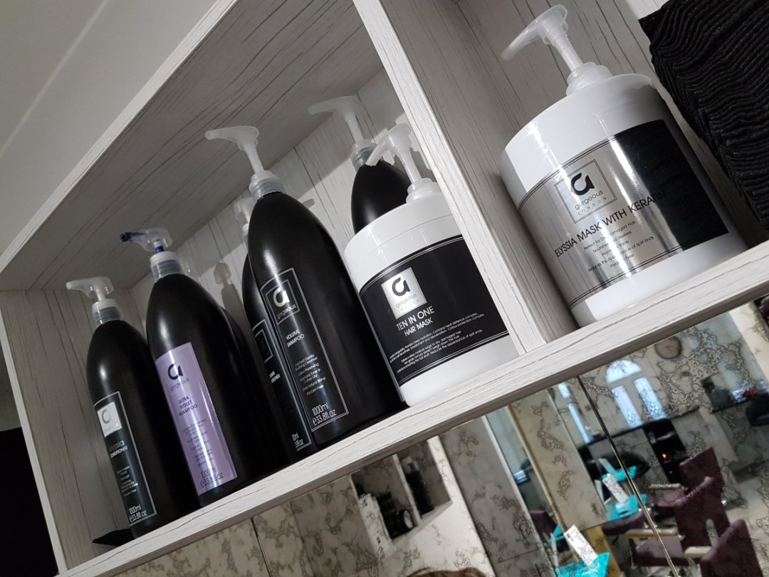 Gorgeous hair products at Cabelo hair salon in Limes Road, Tettenhall