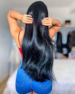 gelatina para cabelo liso
