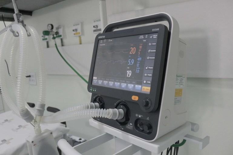 monitores e respiradores corona (Foto Agência Municipal de Notícias Foz do Iguaçu)