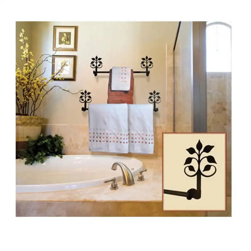Leaf-Fan-Towel-Rack-Set