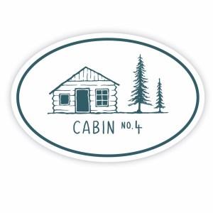 Cabin No. 4 sticker