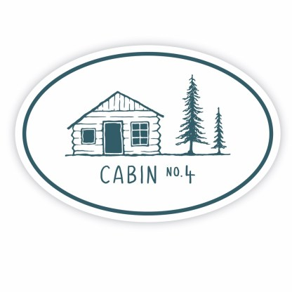 Cabin No. 4 sticker