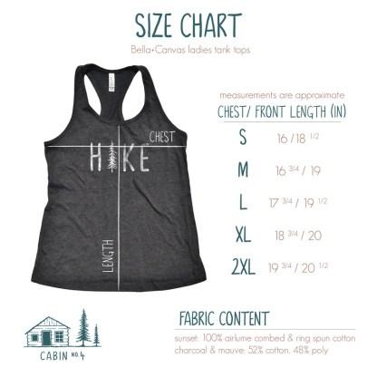 HIKE tank size chart