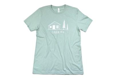 Cabin No. 4 logo t-shirt - dusty blue color