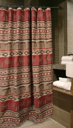 cabin rustic lodge shower curtains