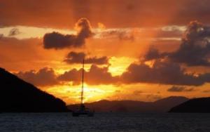 Norman Island Sunset, ritish Virgin Islands Sailing