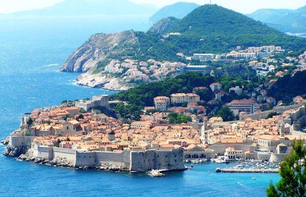 Dubrovnik from Airport road, Croatia