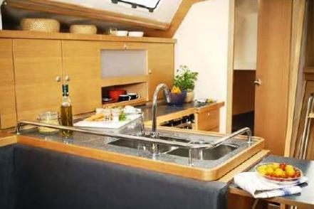 Galley area in Lounge