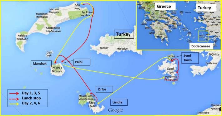South Dodecanese Sailing Itinerary