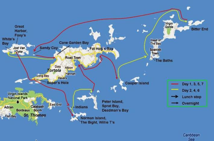 BVI Itinerary