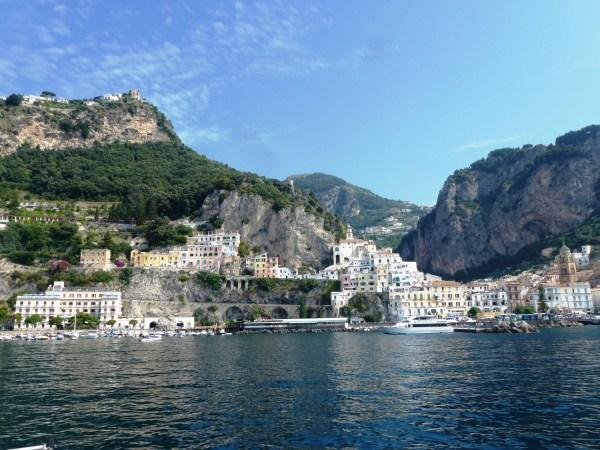 Approaching Amalfi, Italy Sailing