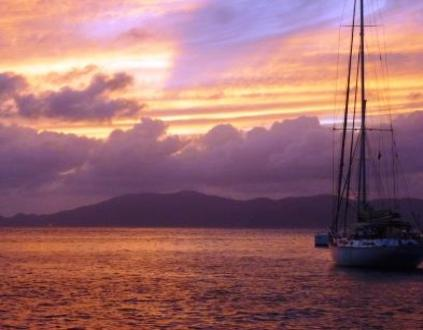 Sunset in the beautiful BVI's