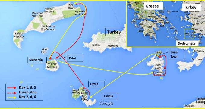 Itinerary, Kos South, South Dodecanese
