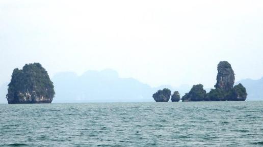 Approaching Ko Pu, northern Phang Nga Bay, CCS Sail, Phuket